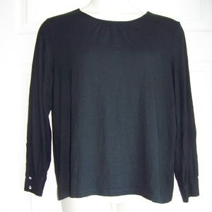 Liz Claiborne Woman long sleeve black t shirt